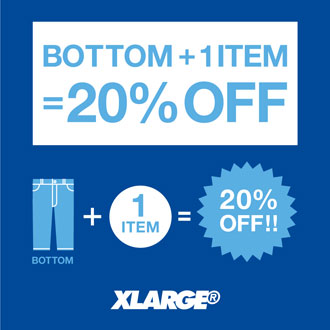 BOTTOM + 1 ITEM = 20%OFF