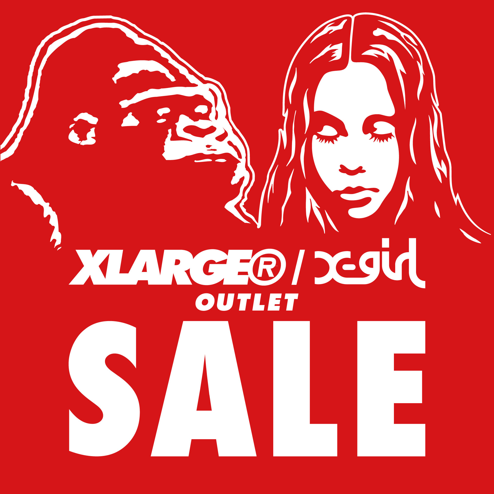 XLARGE®/X-girl OUTLET 10% OFF CAMPAIGN