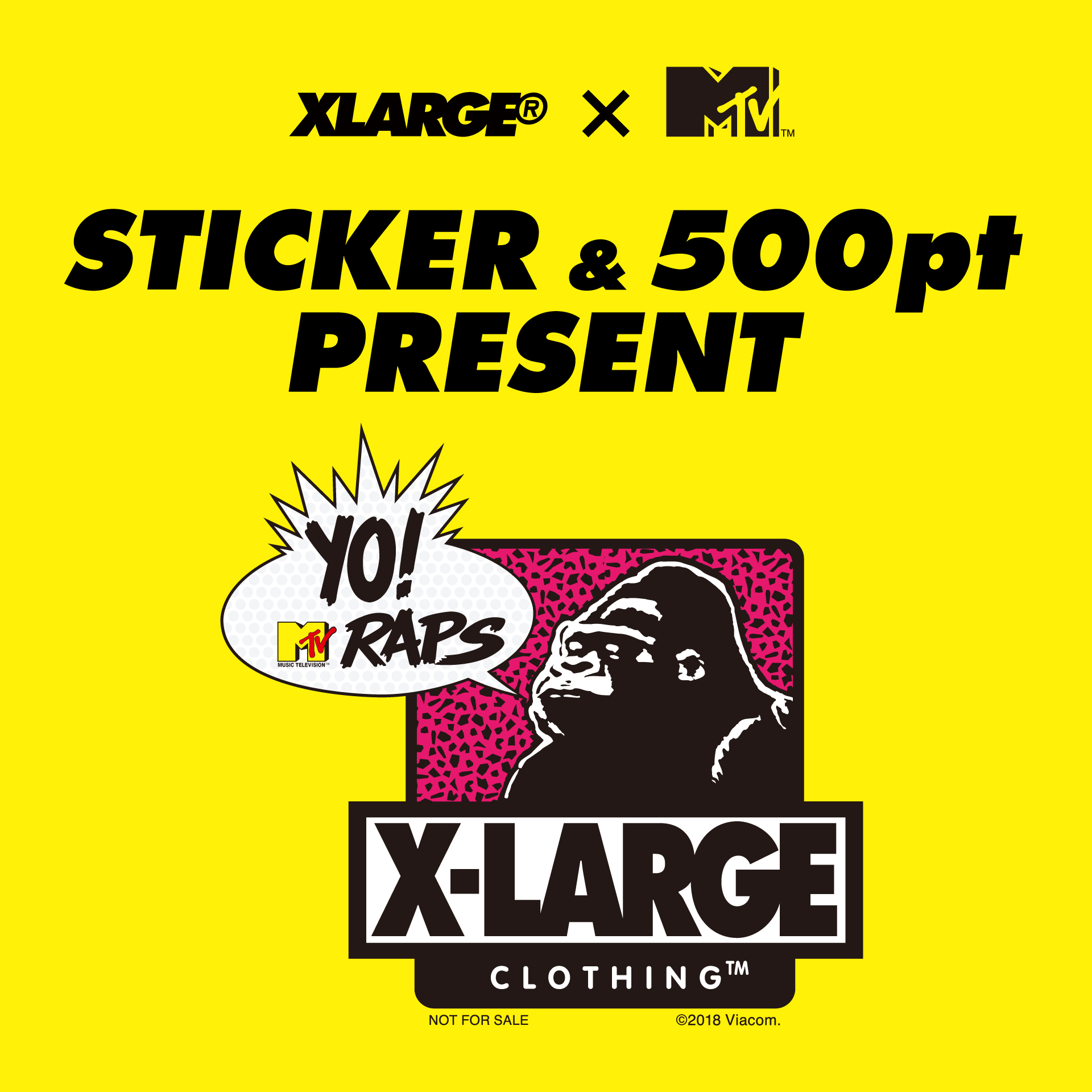 XLARGE®×MTV STICKER PRESENT