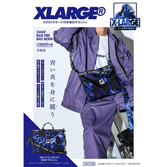 8.30.thu XLARGE® 3WAY BLUE FIRE BAG BOOK